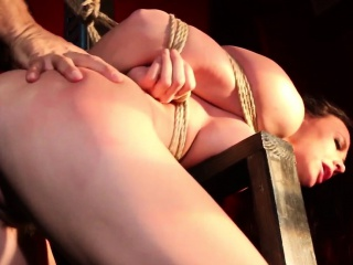 Flogged submissive pounded by maledom