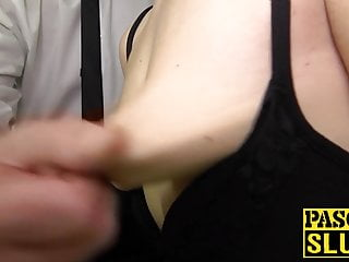 Tied up slut roughly ass fucked and deepthroated by Pascal