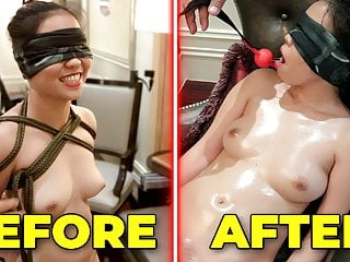 I ABUSE this asian AMATEUR TEEN GIRLFRIEND.. and she FAINTS!