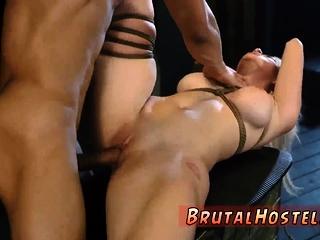 Buried bondage and sex saddle Big-breasted blonde hottie Cri