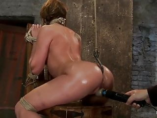 Tied up and forced to squirt like a fountain