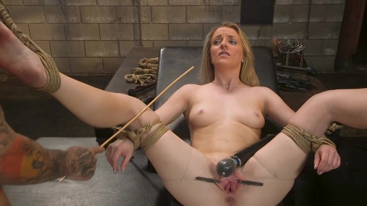 Sub is vibed and anal fucked in bondage