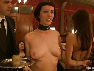 Two slaves used as serving tables