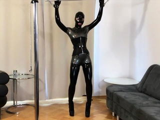 softcore masturbation in latex