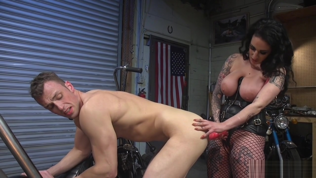 Huge tits dom biker pegging nerd guy