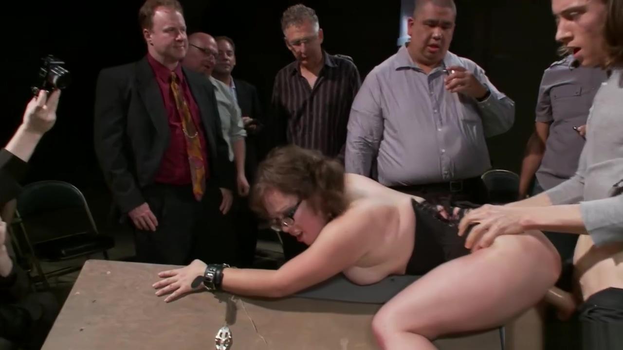 Slave pet gets spanked in public