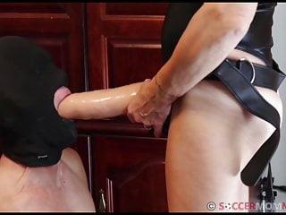 STRAPON Destruction of Cuckold Husband's Sissy Pussy