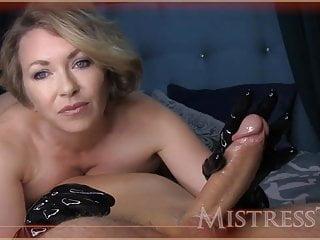 Mistress T Femdom Latex Glove Hand-job