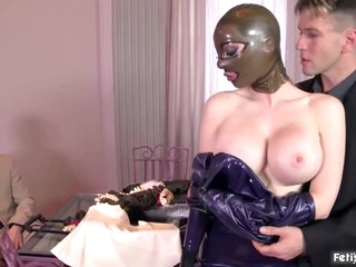 Latex beauty, Lucy is getting fucked very hard and cant wait to get a facial cumshot