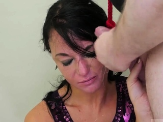 One blonde brunette bondage and extreme anal insertions
