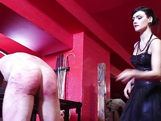 Mistress breaks the will of a slave