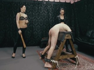CRUEL PUNISHMENTS - Mistress Darkness and her lesbo friend