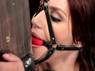 Latina is vibrated on device bondage