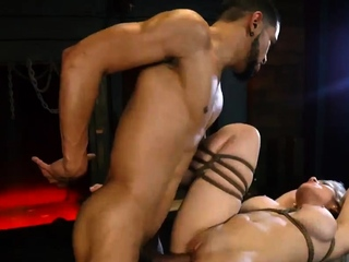 Office bondage sex and punished for cheating Big-breasted