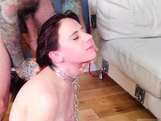 Monster bondage and handjob domination cumshot