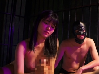 Japanese mafia sex slave wife gives cuck husband a handjob
