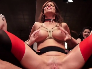 Trained subs dominated and humiliated at party