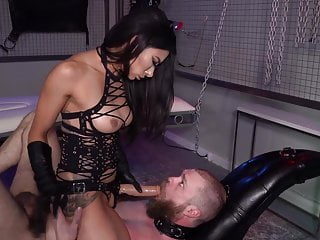 Bound and Fucked with a Strap-on 4 (Double cumshot)