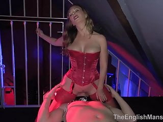 Mistress T fucks slave in his cell