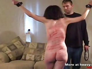 Hard whipping for the slave