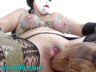 German Torture with Nails in Nipples Needles and Saline Cunt