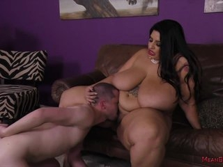 Horny Bbw Brunette Is Facesitting A Guy She Likes, Because It Excites Her A Lot