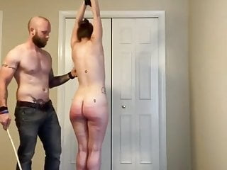 Maledom Amateur Caning Whipping Punishment