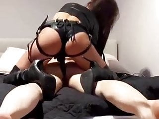 Evil Mistress Fucking a Slave's Ass