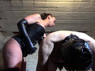 Mistress Jenna Joy fucks her male slave