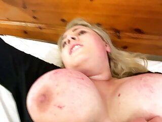 English Slut tied to a bed and fingered to orgasm