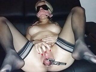 kinky Gwendoline, sub blond MILF, stockings, speculum, urethra