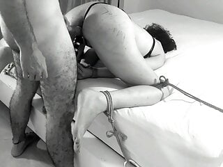 CUM on her BRUISES: Made her Pussy cum while bruising her ass