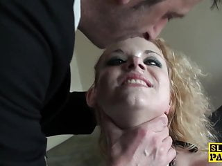 Humiliated uk sub spanked hard and ass plowed