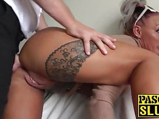 Hot tattooed subslut destroyed by maledom Pascal