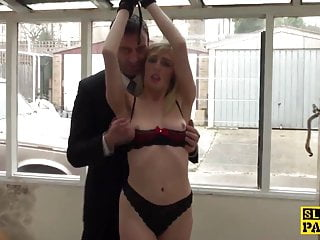 Whipped british submissive subdued by maledom