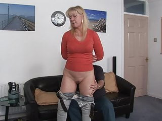 MILF spanked for not paying the interest