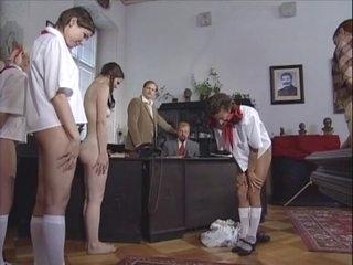 Czech minxes got punished with an ass-whipping