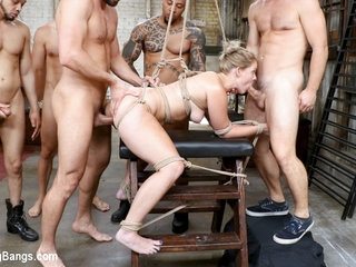 Orgy of BDSM Players Train Anal Submissives to Fuck and Serve - BoundGangbangs