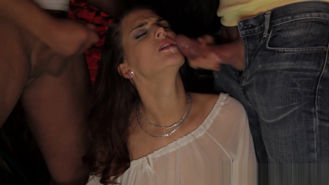 Deepthroating submissive gets facialzied