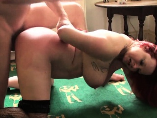 Bigbooty spex redhead spanked and doggystyled