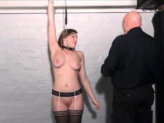 Teen slave Taylor Hearts nipple clamp