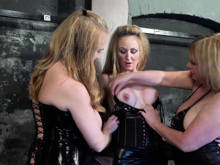 Frenzy BDSM Three horny lesbians and tying
