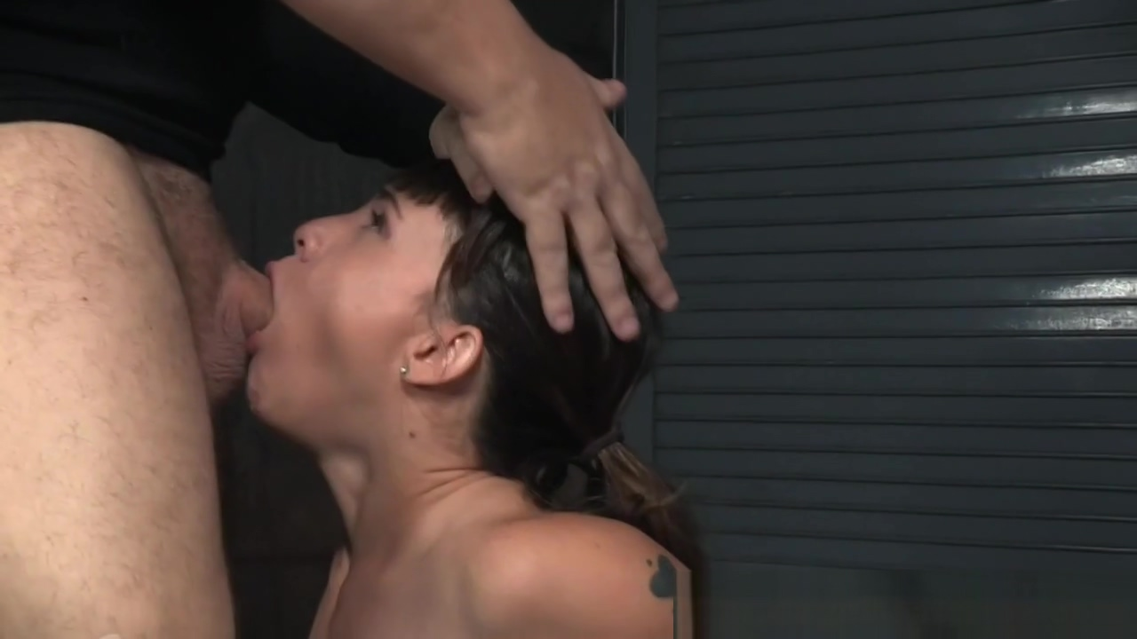 Teen slave sucking maledoms cock